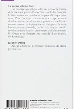 Livres Couvertures de La guerre d'Indochine, 1945-1954