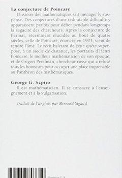 Livres Couvertures de La Conjecture de Poincaré