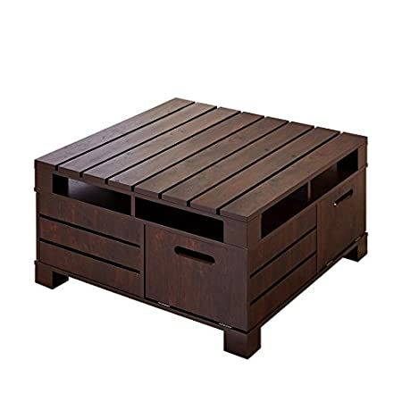 An eye-catching piece with a great look and practical design, sure to find a place in any home. This coffee table combines Mission style inspiration with Contemporary ingenuity, creating a stylish and useful piece. The tabletop and side panels featur...