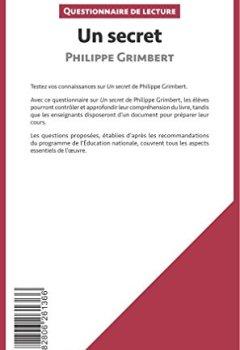 Livres Couvertures de Un secret de Philippe Grimbert: Questionnaire de lecture