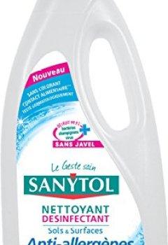 Livres Couvertures de Sanytol Nettoyant Désinfectant Anti-Allergène 1 L - Lot de 3