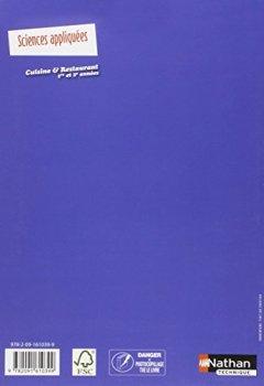 Livres Couvertures de Sciences appliquées - CAP Cuisine et Restaurant