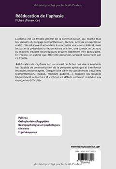 Livres Couvertures de Rééducation de l'aphasie : Fiches d'exercices