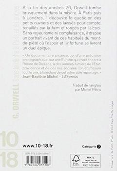 Livres Couvertures de Dans la dèche à Paris et à Londres