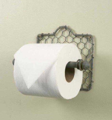 Chicken Wire Toilet Paper Holder