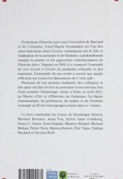 Livres Couvertures de L'histoire et la mémoire de l'histoire - Hommage à Yosef Hayim Yerushalmi