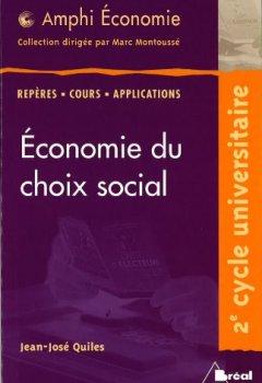 Livres Couvertures de Economie du choix social