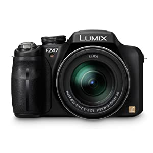 Panasonic Lumix DMC-FZ47K 12.1 MP Digital Camera with 24xOptical Zoom - Black