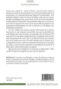 Livres Couvertures de Lacan: Une lecture philosophique