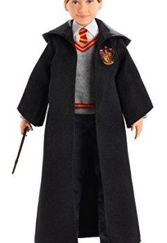 Livres Couvertures de Harry Potter Poupée Articulée Ron Weasley de 26 cm en Uniforme Gryffondor en Tissu avec Baguette Magique, à Collectionner, Jouet Enfant, FYM52