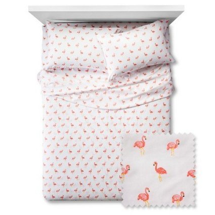 Pillowfort-Flamingos-Sheet-Set-Twin