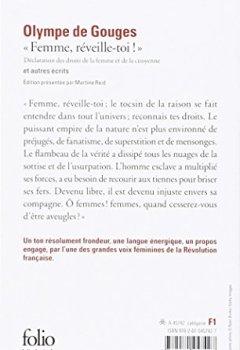 Livres Couvertures de «Femme, réveille-toi!»: Déclaration des droits de la femme et de la citoyenne et autres écrits