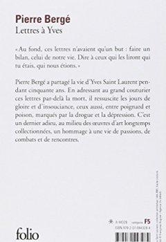 Livres Couvertures de Lettres à Yves