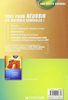 Livres Couvertures de CAP Petite Enfance Matières générales - Tout pour réussir !