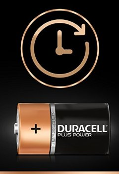 Livres Couvertures de Duracell Plus Power Piles Alcalines type D, Lot de 4