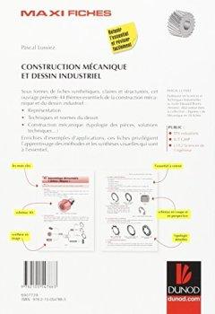 Livres Couvertures de Maxi-fiches de construction mécanique et de dessin industriel - En 44 fiches