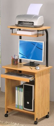 Picture of Comfortable Functional Computer Desk in wooden Finish PDS F40242 (B004RIXARQ) (Computer Desks)