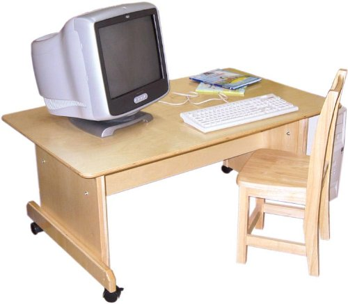 Picture of Comfortable Wood Designs 41500 - Adjustable Height Computer Table (B0026GND9G) (Computer Tables)