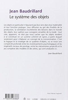 Livres Couvertures de Le système des objets