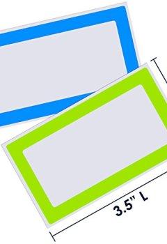 Livres Couvertures de Étiquettes autocollantes colorées - 2 rouleaux pour un total de 500 étiquettes – 9 cm x 5 cm – Autocollants pour bocaux, récipients pour aliments, dossiers ou fêtes d'anniversaire