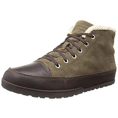 Taking a walk or making a stand, do it in cozy style and comfort in the Patagonia Activist Fleece WP lace-up. This men's casual boot has a water-resistant suede upper. Underfoot, the partially recycled EVA midsole includes an air cushion under the he...