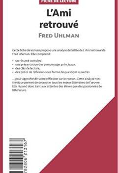 Livres Couvertures de L'Ami retrouvé de Fred Uhlman (Fiche de lecture): Résumé Complet Et Analyse Détaillée De L'oeuvre