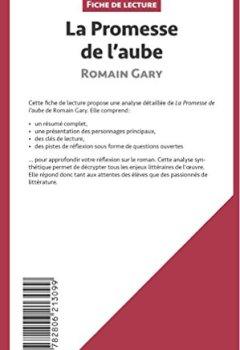 Livres Couvertures de La Promesse de l'aube de Romain Gary (Fiche de lecture): Résumé Complet Et Analyse Détaillée De L'oeuvre