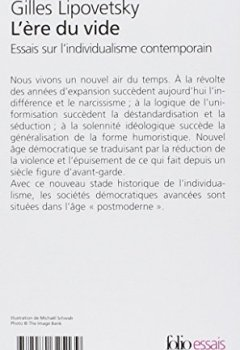 Livres Couvertures de L'ère du vide : Essais sur l'individualisme contemporain