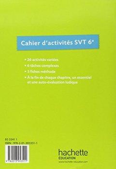 Livres Couvertures de Cahier d'activités SVT 6e - Edition 2015