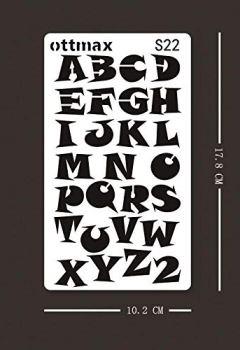 Livres Couvertures de Lot de 24Lettre Nombre Pochoirs lettres de l'alphabet Pochoir pour Bullet Journal Fournitures DIY Scrapbooking Peinture Dessin Craft Accessoires 4× 17,8cm