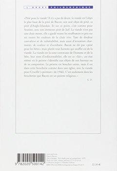 Livres Couvertures de Francis Bacon : Logique de la sensation