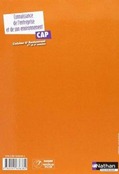 Livres Couvertures de Connaissance de l'entreprise et de son environnement – CAP Cuisine et Restaurant