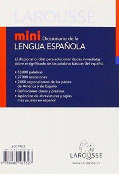 Livres Couvertures de Mini diccionario de la lengua espanola/ Mini Dictionary of the Spanish Language