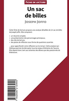 Livres Couvertures de Un sac de billes de Joseph Joffo (Fiche de lecture): Résumé complet et analyse détaillée de l'oeuvre