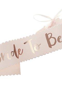 Livres Couvertures de Ginger Ray Rose et or rose Chic à bride to be Sash?Team mariée
