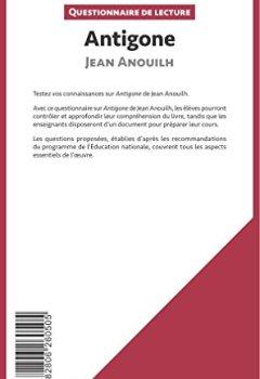 Livres Couvertures de Antigone de Jean Anouilh: Questionnaire de lecture