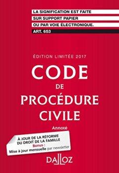 Livres Couvertures de Code de procédure civile 2017. Édition limitée - 108e éd.
