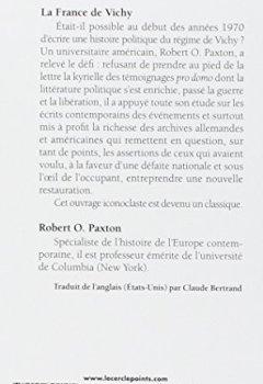Livres Couvertures de La France de Vichy, 1940-1944