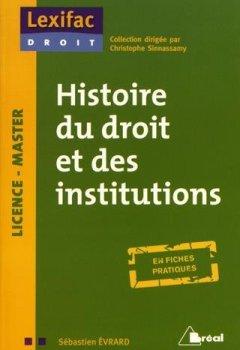 Livres Couvertures de Histoire du droit et des institutions