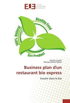 Livres Couvertures de Business plan d'un restaurant bio express