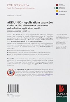 Livres Couvertures de Arduino : Applications avancées - Claviers tactiles, télécommande par Internet, géolocalisation...: Claviers tactiles, télécommande par Internet, géolocalisation, applications sans fil...
