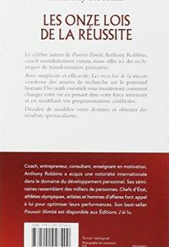 Livres Couvertures de Les onze lois de la réussite : De la part d'un ami