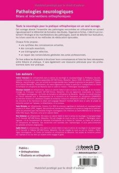 Livres Couvertures de Pathologies neurologiques : bilans et interventions orthophoniques