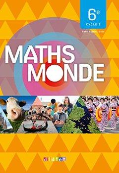 Livres Couvertures de Maths Monde 6e - Livre
