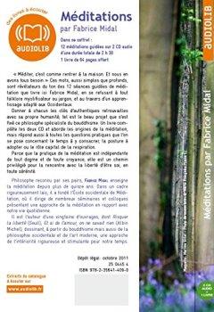 Livres Couvertures de Méditations - 12 méditations guidées pour s'ouvrir à soi et aux autres: Livre audio 2 CD audio et un livret de 36 pages
