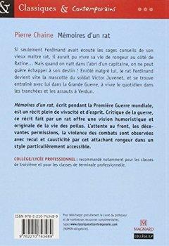 Livres Couvertures de Mémoires d'un rat : Suivi des Commentaires de Ferdinand, ancien rat des tranchées