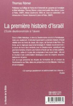 Livres Couvertures de La première histoire d'Israël : L'Ecole deutéronomiste à l'oeuvre