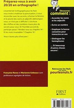 Livres Couvertures de L'essentiel de l'orthographe pour les Nuls