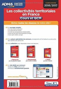 Livres Couvertures de Les collectivités territoriales en France - Catégories A, B et C - Cours et QCM - Concours 2016-2017 - À jour de la réforme