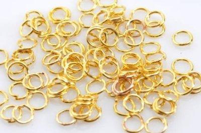 丸カン 6mm ゴールド 金 100個 リング